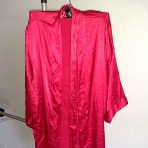 Victoria's Secret Red Satin Robe Womens XS/S